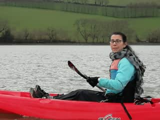 Me out kayaking on the River Dart - in January!