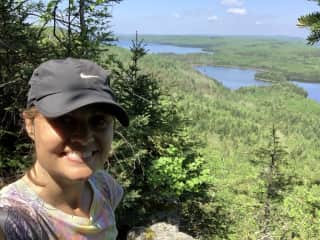 Hiking in The Boudary Waters in Minnesota