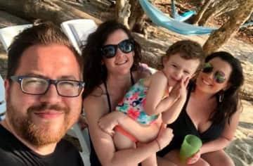 Me, Ian, Hazel and Alyse in Costa Rica