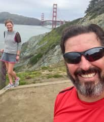 Edward and I attempting the 'Batteries to Bluffs' Trail, San Francisco
