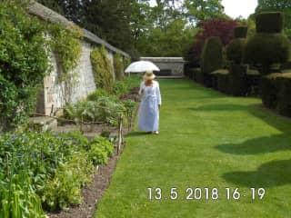 Carole at Avebury Manor Regency Weekend