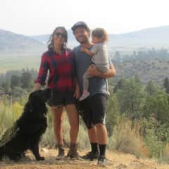 Hiking in our hometown big bear Lake, California.