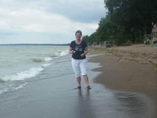 Walking the beach - Lake Huron - Grand Bend