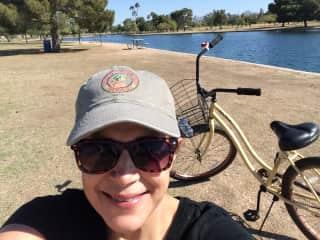 I enjoy biking