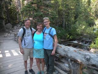 This is my family on a hike in the mountains