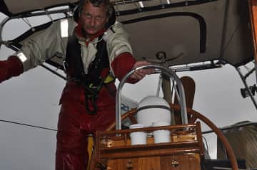 Crossing Atlantic Ocean to deliver a sailing ship from Martinique to Spain.
