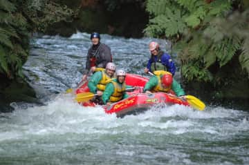 Javier and Clodet in a ozi rafting