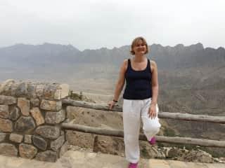 Me hiking in Oman