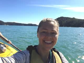 That's me - sea kayaking in New Zealand
