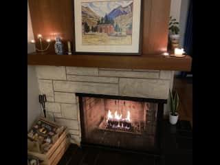 Standard cozy winter scene in the Grangus ranch