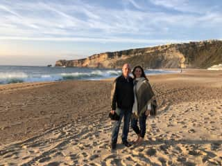 Holly and Scott in Nazare, Portugal