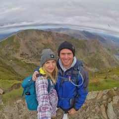 Us on top of Mt. Snowden in Wales.