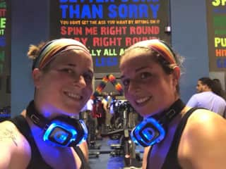 Staying active at our local spin studio, Central Cycling