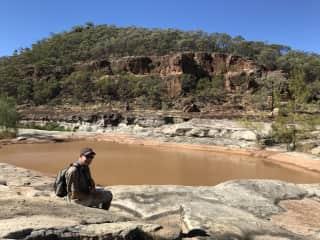 Terry bush walking in Australia