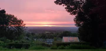 The view of sunset from back garden