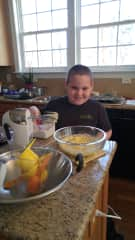 Cooking up a stormwith my grandson xo