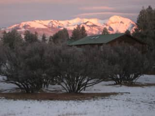 The La Plata Mountains from out livingroom