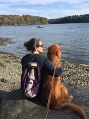 Sedona and I during a walk