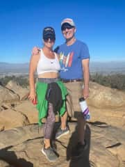 I love to hike. This is Cowles mountain.