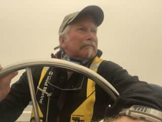 Jim sailing in Pacific N.W.
