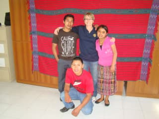 Me with some of the Guatemala scholarship students