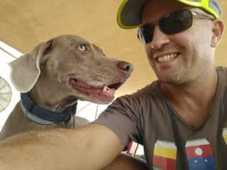 Ori with our dear dog, Nina