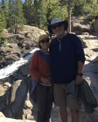 Greg and Sue hiking