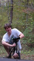 Jeff photographing fall foliage for our book