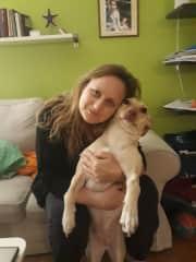 My dog Koko and me
