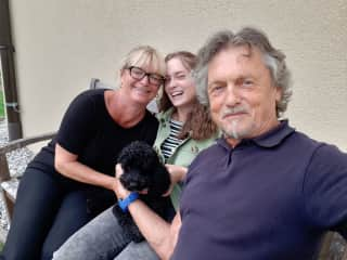 Bernhard, Sophie and me and Emma, my friend´s dog