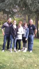 Our human family. Al, Julie, Christine, Kelsey and fiancé Scott.