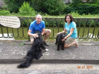 With Miki & Misty in Fontenoy-le-Chateau, Vosges, France