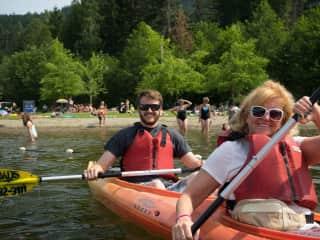 Kayaking in Whistler, British Columbia Canada