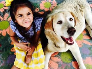 My girl with our Dog ¨El gordo¨