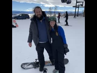 Snowboarding in Steamboat, CO! I learned how to snowboard at age 17 when my host family in Spain quickly learned my ski ability was lacking and snowboarding was a fun sport that somehow I would be better at. 10 years later, I love it just as much.