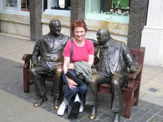 Eileen with some 'old mates' in Bond Street London