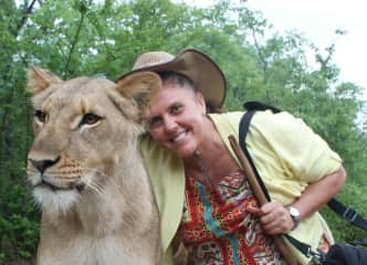 Even big cats are great to cuddle (Zambia).