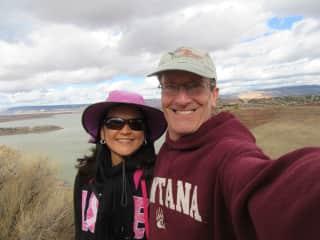 Enjoying hiking in the US