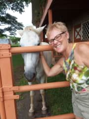 Kathleen at the Costa Rica Horse and Soul Connection.