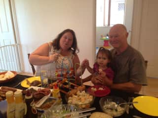 Sue and Chris and grandaughter Skylar