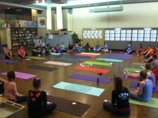 Our yoga community in Grand rapids. It is free and they would love to have you join on Wenesday nights when you are house sitting for us!