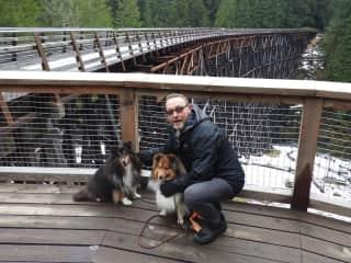 Walking the Kinsol Tresle trail British Columbia