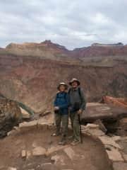 Marlene & Don hiking Grand Canyon