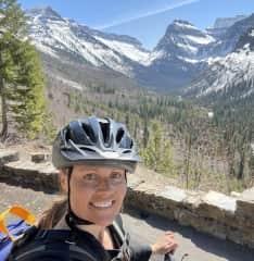 Biking the Going to the Sun Road in Glacier Park