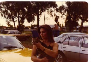 With the local community cat !1979