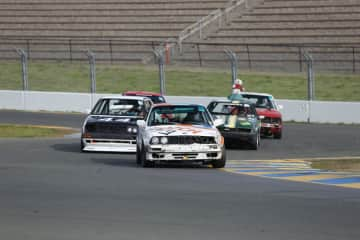Driving the race car at Sonoma in California