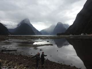Exploring Milford Sound, New Zealand