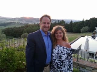 Scott and Christine in Tuscany