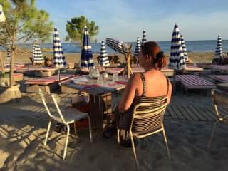 Little restaurant at the beach front