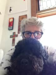 This is me with my best furry friend Doodle.